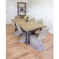Industrial Chic Aldiron Table 2m with 6 Zorro Chairs