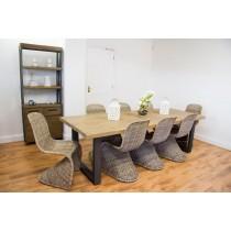 Industrial Chic Aldiron Table 2.6m with 8 Zorro Chairs