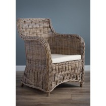 Isabella wicker armchair