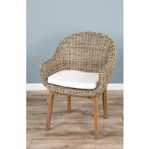 Kubu Wicker Scandi Armchair