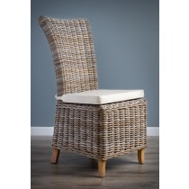 Natural Wicker Dining Chair - Latifa