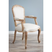 American Oak Grey Wash Upholsered Armchair