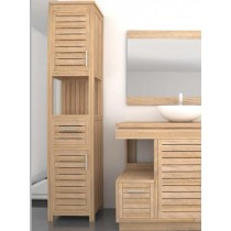 Oasis Teak Tall Bathroom Cabinet