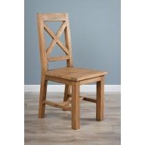 Reclaimed Elm Cross Back Dining Chair