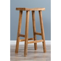 Reclaimed Teak Bar Stool