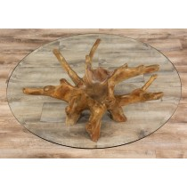 100cm Reclaimed Teak Root Coffee Table Circular