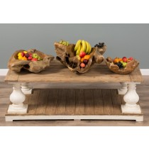 Wooden Teak Root Fruit Bowl