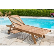 Teak Garden Sun Lounger - Richmond