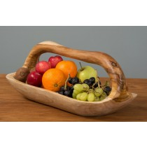Teak Root Bowl With Handle