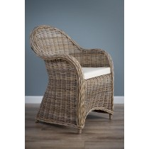 Natural Wicker Armchair - Riviera