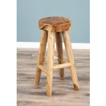 Alpine Chunky Teak Bar Stool