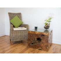 Square Teak Root Block Coffee/End Table