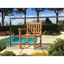 Traditional Teak Garden Armchair