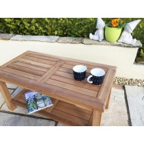 Teak Rectangular Coffee Table with Shelf