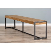 2m Reclaimed Teak Urban Fusion Dining Bench