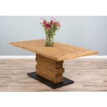 2m Reclaimed Teak Urban Fusion Pedestal Dining Table