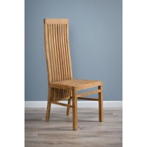 Reclaimed Teak High Backed Dining Chair - Vikka