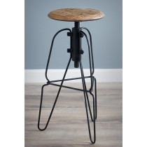 Reclaimed Elm Swivel Bar Stool