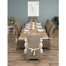 2.4m Ellena Dining Set with 8 Latifa Chairs