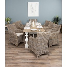 2.4m Ellena Dining Set with 8 Donna Chairs