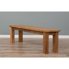 2.4m Reclaimed Teak Backless Mexico Dining Bench