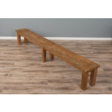 3m Reclaimed Teak Backless Mexico Dining Bench