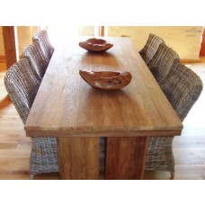 2.4m Reclaimed Teak Dining Table with 6 Donna Dining Chairs