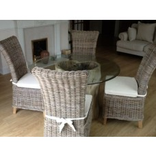 1.2m Java Root Dining Table with 4 Latifa Chairs