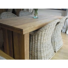1.8m Reclaimed Teak Dining Table with 4 Riviera Dining Chairs