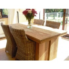 1.8m Reclaimed Teak Dining Table with 4 Donna Chairs