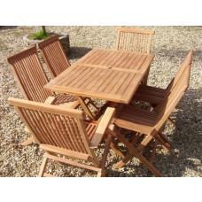 Teak 6 Seater Rectangular folding Set