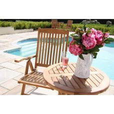 60cm Teak Bistro Table with Harrogate Reclining Chair