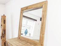 Reclaimed Teak large mirror sourced from reused timber.
